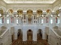 Great Hall. View of first and second floors, with Minerva mosaic in background. Library of Congress Thomas Jefferson Building, Washington, D.C. LCCN2007687185.tif