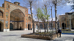 Soltani Mosque of Borujerd - Great Yard of Sultani Mosque