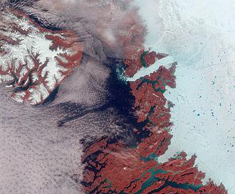 Melt pond - Image: Greenland Ilulissat