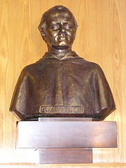 Bust of Mendel at Mendel University of Agriculture and Forestry Brno, Czech Republic.