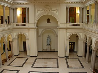 Pontifical Gregorian University - Central atrium of the Greg
