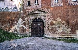 Zagórze Śląskie - Entrance of Grodno castle
