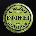 Groen Escoffier cacao proef blikje, foto5.JPG