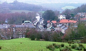 Grosmont, North Yorkshire - Image: Grosmont From Lease Rigg geograph.org.uk 298000