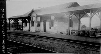 Westbrook station (Connecticut) - 1899-built Grove Beach station in 1916