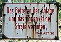 GuentherZ 2013-06-08 0277 Wien13 Lainzerbach Ebersberggasse Einlaufbauwerk Lainzerbach TafelMA30.JPG