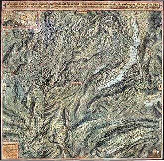 Cartography of Switzerland - Image: Gygerkarte