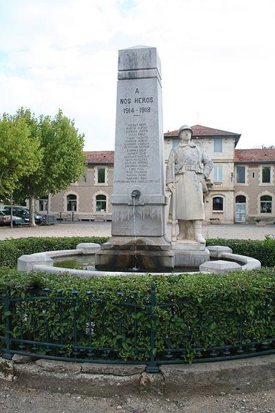 Hérépian (Hérault) - monument aux morts.