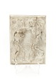 Högt driven, fyrkantig relief av silver föreställande Kristi dop - Skoklosters slott - 92337.tif