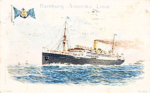 Hamburg America Line - Postcard from the Hamburg-American Line steamship König Friedrich August, issued 1911
