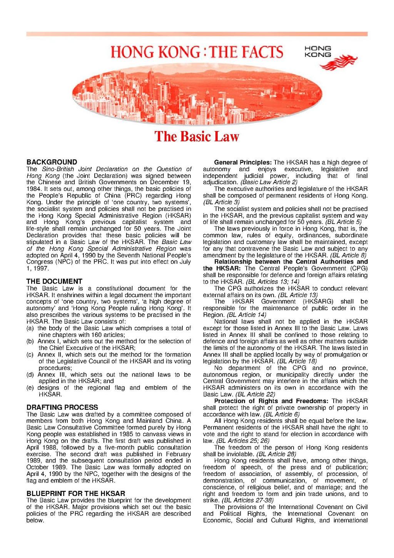 (PDF) The Hong Kong Basic Law Handbook (2nd Edition ...