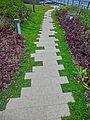 HK 啟德郵輪碼頭 Kai Tak Cruise Terminal Park roof stone tile path Nov-2013.JPG