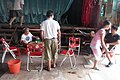 HK 西營盤 Sai Ying Pun 香港 中山紀念公園 Dr Sun Yat Sen Memorial Park 香港盂蘭勝會 Ghost Yu Lan Festival theatre stage staff 01.jpg