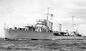 Occupation of Iceland - HMCS Skeena c.1941–43