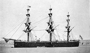 HMS Caledonia (1862) from Army and Navy Illustrated.jpg