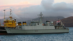 HMS Grimsby (M108) ved Loch Alsh i 2008