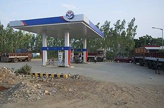 Hindustan Petroleum - An HP petrol pump in Khammam