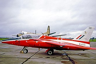 Folland Gnat - Operational Gnat T.1 of No. 4 Flying Training School RAF in 1971