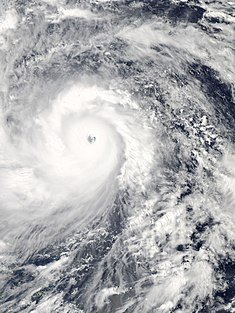 Typhoon Haiyan approaching the Philippines on November 7, 2013