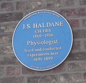 Crick Road - Image: Haldane blue plaque, Oxford