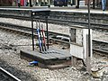 Hand-operated point levers at Bristol Temple Meads.jpg