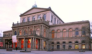 Georg Ludwig Friedrich Laves - Image: Hannover Opernhaus abends