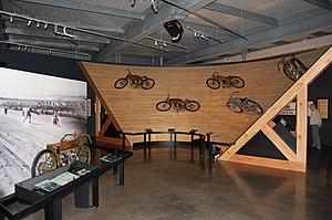 Harley-Davidson Museum - Wooden board track section
