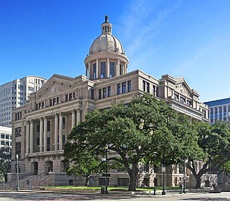 Judiciary of Texas - The Old Harris County Courthouse, home of the First Court of Appeals of Texas and Fourteenth Court of Appeals in Houston