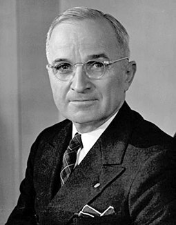 Though prominent as a Missouri Senator, Harry Truman had been vice president only three months when he became president; he was never informed of Franklin Roosevelt's war or postwar policies while vice president. Harry S. Truman.jpg