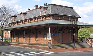 Windsor, Connecticut - Windsor Amtrak Station, in the former Hartford & New Haven Railroad Depot