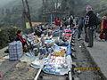 Hawkers selling wares on railway tracks at 'Batasia Loop'.JPG