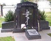 DiMaggio's grave