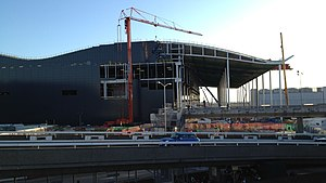 Heathrow Terminal 2 - The new Terminal 2 building under construction, January 2012