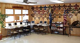 Del-Mar-Va Council - Administration building lounge in 2003