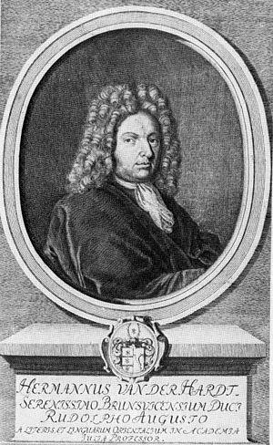 Hermann von der Hardt - Hermann von der Hardt.