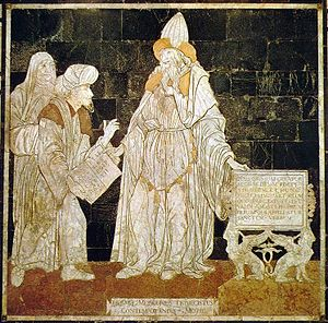 Hermes Trismegistus - Hermes Trismegistus, floor mosaic in the Cathedral of Siena