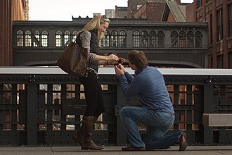 Genuflection - Image: High Line Nyc Marriage Proposal