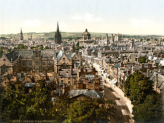 Jude the Obscure - Photochrom of the High Street, Oxford, 1890–1900
