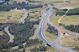 Freeways in Australia - Tuggeranong Parkway