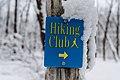 Hiking Club Sign in Snow - Sakatah Lake State Park, Minnesota in Winter (38880624520).jpg