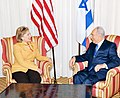 Hillary Clinton and Shimon Peres at Omni Shoreham Hotel, Washington DC, 2009.jpg