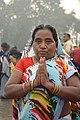 Hindu Devotee Prays To Ganga - Makar Sankranti Observance - Kolkata 2018-01-14 6544.JPG