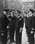 Hm the King Paid a Private Visit To the Headquarters of Combined Operations, Where He Was Received by Vice Admiral Lord Louis Mountbatten. 29 September 1942. A11958.jpg