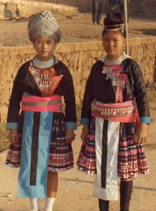 Hmong girls in Laos 1973 2
