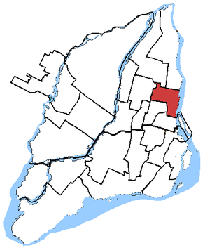 Hochelaga (electoral district) - Hochelaga in relation to other electoral districts in Montreal (2003 boundaries)