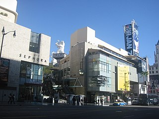 Hollywood and Highland Center shopping mall and entertainment complex at Los Angeles