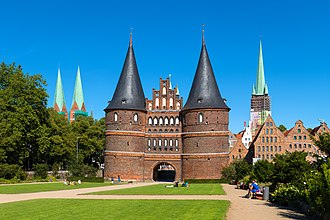 Lübeck - Holstentor, emblem of the city