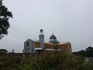 Roman Catholic Diocese of Raleigh - Holy Name of Jesus Cathedral, during its construction