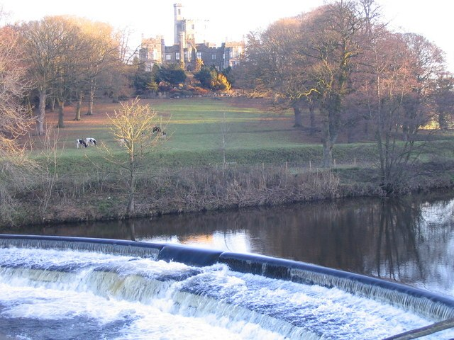 Hornby Castle and the River Wenning - geograph.org.uk - 632943