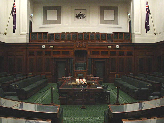 House of Representatives, Old Parliament House, Canberra